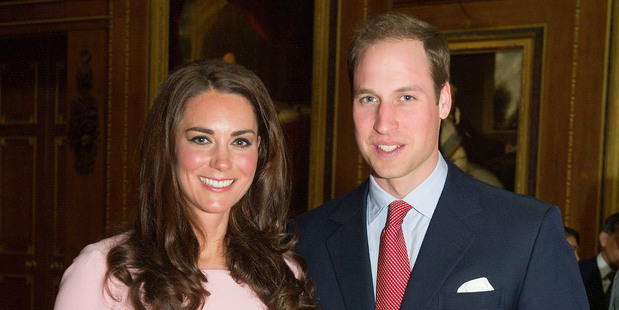 Kate Middleton, Duchess of Cambridge, and Prince William. Photo / Getty Images