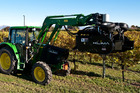 The New Zealand-developed Klima machine mechanises a system of grape pruning previously done by hand. Photo / Supplied
