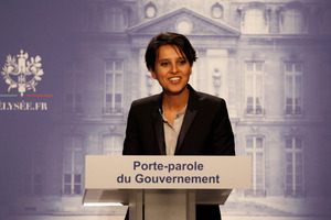 French government spokesperson Najat Vallaud-Belkacem. Photo / AP