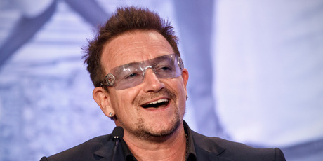 Bono, U2 frontman and activist. Photo / AP