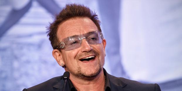 Bono, U2 frontman and activist. Photo / AP