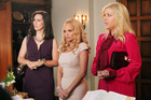 Evil sisters: From left, Miriam Shor, Kristen Chenoweth and Jennifer Aspen in GCB. Photo / Supplied