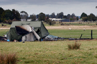 The scene of the fatal aeroplane accident at the Fox Glacier airfield in South Westland. Photo / NZ Herald