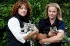 Michelle Locke (left) and SPCA inspector Caroline. Photo / Christine Cornege