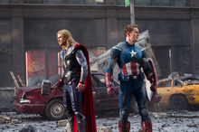 Thor (Chris Hemsworth) and Captain America