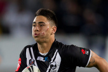 New Zealand Kiwis halfback Shaun Johnson. Photo / Getty Images
