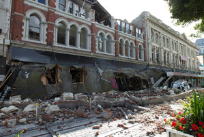Cashel Mall in Christchurch after the 6.3 magnitude earthquake which struck the city on February 22 last year. File photo / Simon Baker