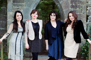 The Celtic Divas, from left, Noriana Kennedy, Nicola Joyce, Eilis Kennedy and Pauline Scanlon. Photo / Supplied