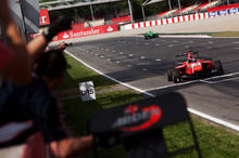A puncture dashed Mitch Evans' hopes in race two in Barcelona. Photo / GP3 Series