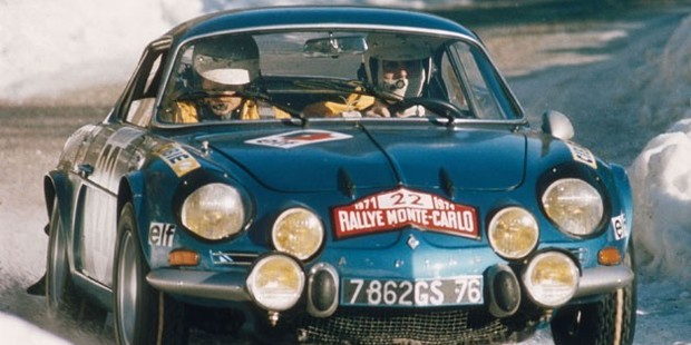 Renault Alpine during the 1971 Mote Carlo rally. Photo / Supplied