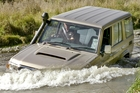 Toyota Land Cruiser 70 - it's just as well the raised air intake is standard. Photo / Phil Hanson