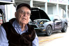 Carroll Shelby with the Ford Shelby GT500 Durability car he drove at the historic Sebring International Raceway in January. Photo / Supplied