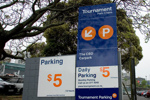 Tournament Parking. Photo / Dean Purcell
