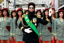 Has comedian Sacha Baron Cohen struck out with The Dictator? Photo / AP