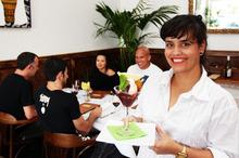 The old-world European cafe decor ideally suits Ipanema Food & Art Society. Photo / Doug Sherring