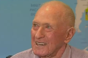 Ninety-five-year-old Keith Wright is a big fan of independent travel and will embark on a two-month trip around Europe this year, staying in backpacker hostels along the way. Photo / Screengrab from Network Ten