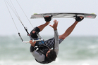 Boardsailing great Bruce Kendall questions the politics and rationale that has seen boardsailing supplanted by kiteboarding. Photo / Bay of Plenty Times