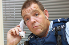 Senior constable Dave Colville is bemused that an international phone scammer would call the Richmond Community Police Station. Photo /Waimea Weekly