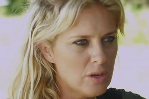 Rachel Hunter in a scene from Piranhaconda. Photo / YouTube