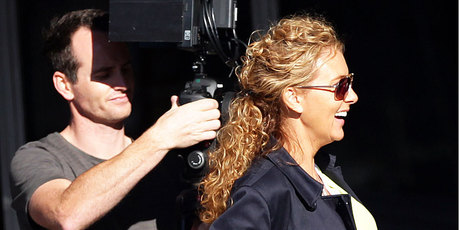 Sally Ridge films the pilot episode for her upcoming reality show.  Photo / Doug Sherring