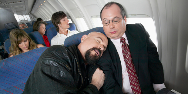People with bad body odour topped a recent survey by online travel search site Skyscanner, to find out who passengers most dread sitting next to. Photo / Thinkstock
