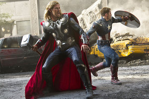 A joke about adoption in The Avengers isn't funny, say the organisers of a petition. Photo / Supplied