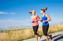 Half marathons are a popular choice for women.