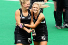 Sophie Devine and Sam Harrison of the Blacksticks. Photo / Getty Images.
