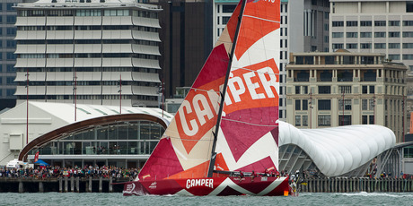 The Auckland stopover of the Volvo Ocean Race returned a surplus of $201,000. Photo / Emirates with Team New Zealand.
