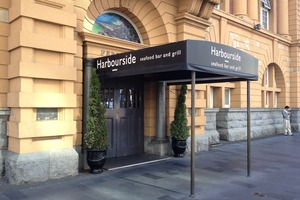 Harbourside Seafood Bar & Grill is in Auckland's Ferry Building. Photo / Supplied