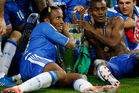Didier Drogba proved to be the match-winner as the Blues lifted their first Champions League title to make amends for his misery in Moscow. Photo / AP.