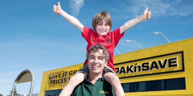 Whanganui Pak'nSave owner Gareth Jones said his son Elliot challenged him to make energy savings at the store. Photo / Supplied