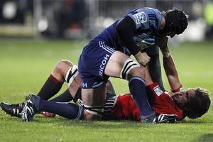 The Blues had another unsuccessful game against the Crusaders. Photo / Getty IMages