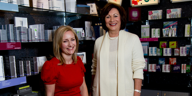 Jane Bourke launched Dermalogica in 1993 and her daughter Natasha Gee stepped up in 2007.  Photo / Dean Purcell