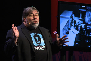 Steve Wosniak tells the Viaduct Events centre audience during a worldwide tour yesterday that he was 'very much a nerd'. Photo / Phillip Davis