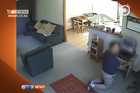 A cleaner commits an indecent act in a customer's home as captured by the TV3 programme Target. Photo / TV3