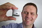 Peter Smith sees big potential in Australia for the Danish-designed Cavius smoke alarm. Photo / Supplied