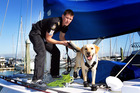 Brendon Kircher puts Roxy through her paces at Bayswater Marina. Photo / Doug Sherring