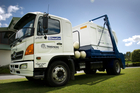 Biogas powers the Redvale Landfill rubbish truck, reducing carbon dioxide emissions by 290 tonnes a year. Photo / Supplied