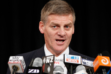 Finance Minister Bill English during his presentation on the 2012 Budget to analysts and media at the Beehive. Photo / Mark Mitchell