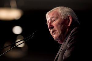 Sir Ron Brierley doesn't plan to quit the corporate world any time soon. Photo / Natalie Slade