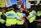 Protesters such as these in Auckland need to be realistic, Prime Minister John Key says. Photo / Greg Bowker