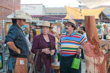 Jack Black (right) portraying Bernie Tiede, right, in a scene from 'Bernie'. Photo / Supplied