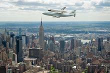 The Enterprise shuttle - once seen, never forgotten. Photo / AP