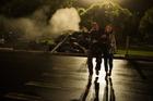Chopper crash scene from Shortland Street's mega-episode. Photo / supplied