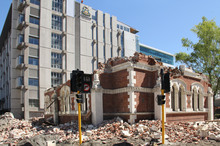 One of the earthquake damaged libraries in Christchurch. Photo / NZ Herald