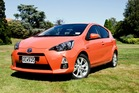 Toyota Prius C is one of a new crew of hybrid cars revving up in New Zealand. Photo / Supplied