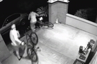 A home was invaded by a set of theives who bravely faced a dog before stealing bicycles off the front door step of the family home.