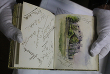 Whangarei Museum has an autograph book that once belonged to Lady Elizabeth Seaton nee Drake. Photo / Jim Eagles