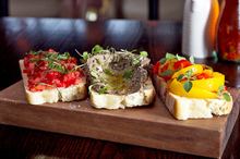 A bruschetta trio at Merchants of Venice, Auckland. Photo / Natalie Slade